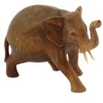 Holzfigur Elefant Suarholz