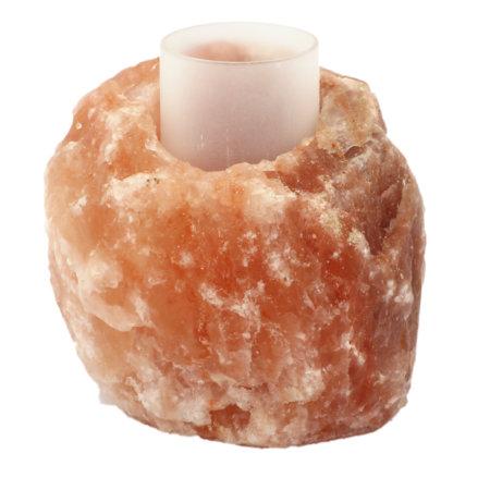 Salz Windlicht Teelichthalter Rustikal