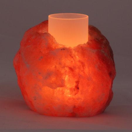 Salz Windlicht Teelichthalter Rustikal Leuchtend