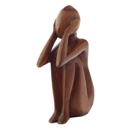 Skulptur Maedchen Aus Suarholz
