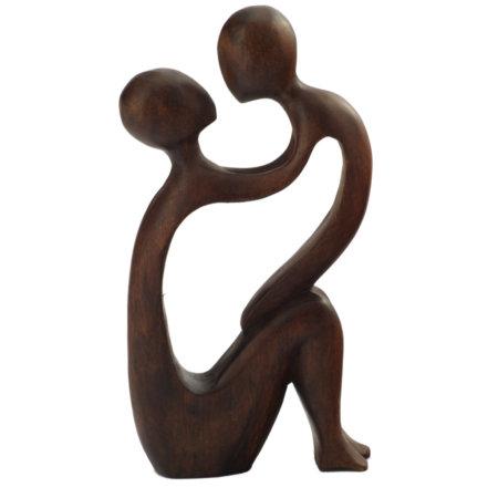 Skulptur Yoga Paar Seite