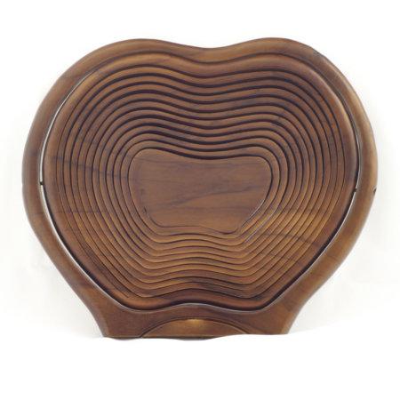 Faltbare Holzobstschale Apfelform Geschlossen
