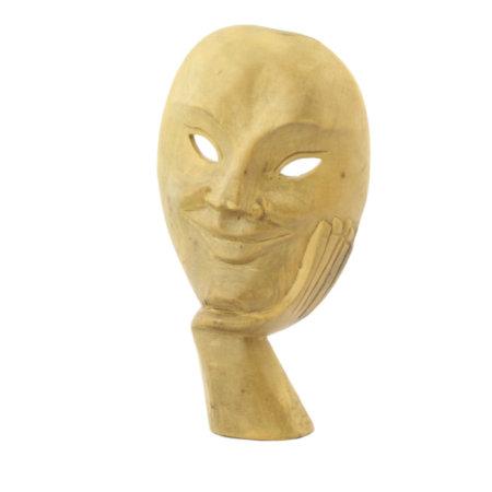 Helle Maske Aus Hibiskusholz