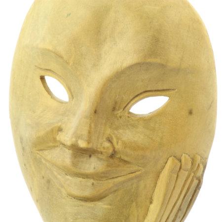 Helle Maske Aus Hibiskusholz Detail