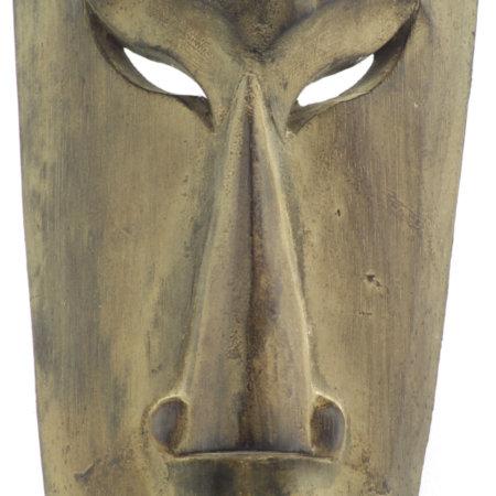 Teuflische Maske 50cm Albesiaholz Detail