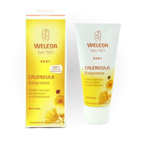 Weleda Calendula Naturkosmetik Babycreme mit Verpackung