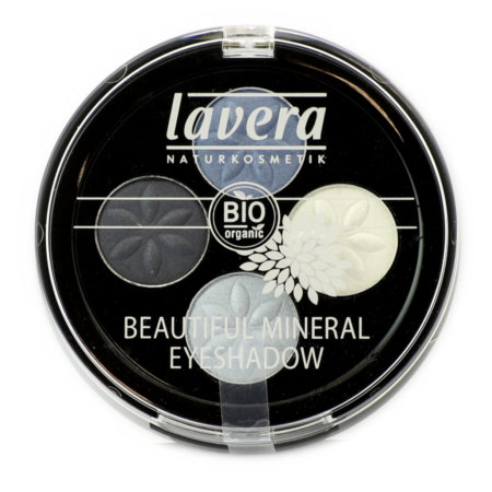 lavera Naturkosmetik Beautyful mineral Eyeshadow - -Quattro Blue Platinum 07
