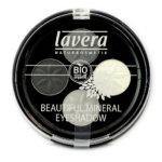 lavera Naturkosmetik mineral Eyeshadow - -Quattro Smoky Grey 01