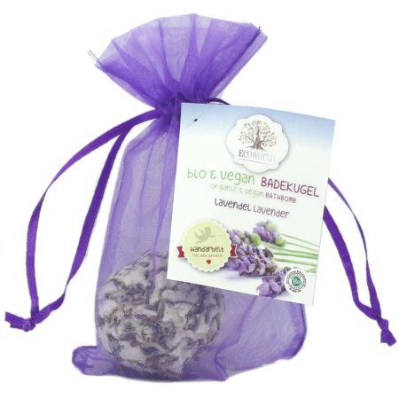 Ecoworld veganer bio Badecupkake Lavendel