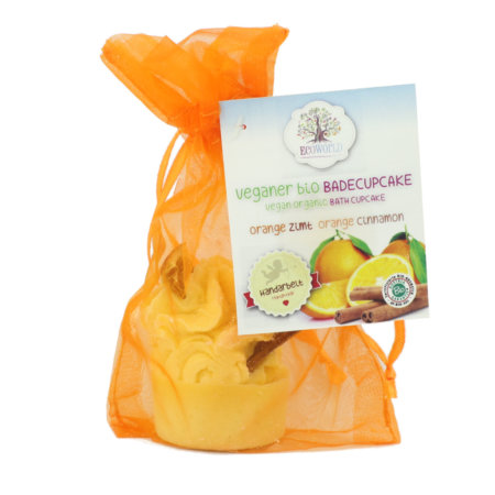 Ecoworld veganer bio Badecupkake Orange - Zimt
