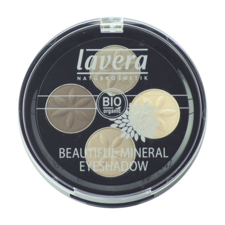 lavera Naturkosmetik mineral Eyeshadow - -Quattro Cappuccino Cream 02